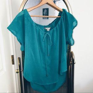 flowy teal blouse 🌊